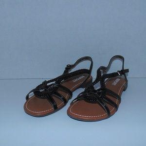 Report Garam Women's Black Sandals Size 7.5